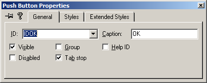 [VC6 resource editor button dialog]